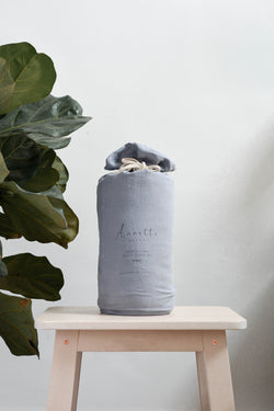 French Linen Bedsheet Singapore Duvet Cover Set | Slate Blue