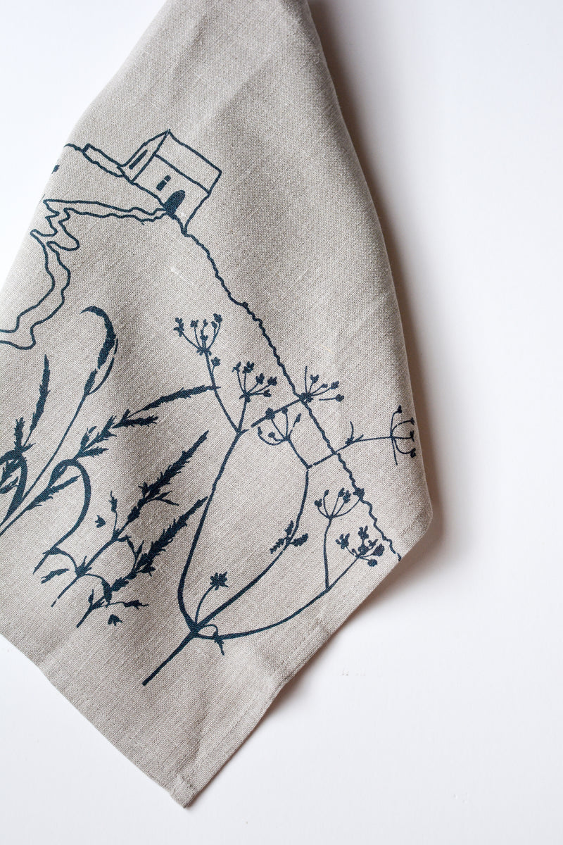 Rame Head Linen Tea Towel