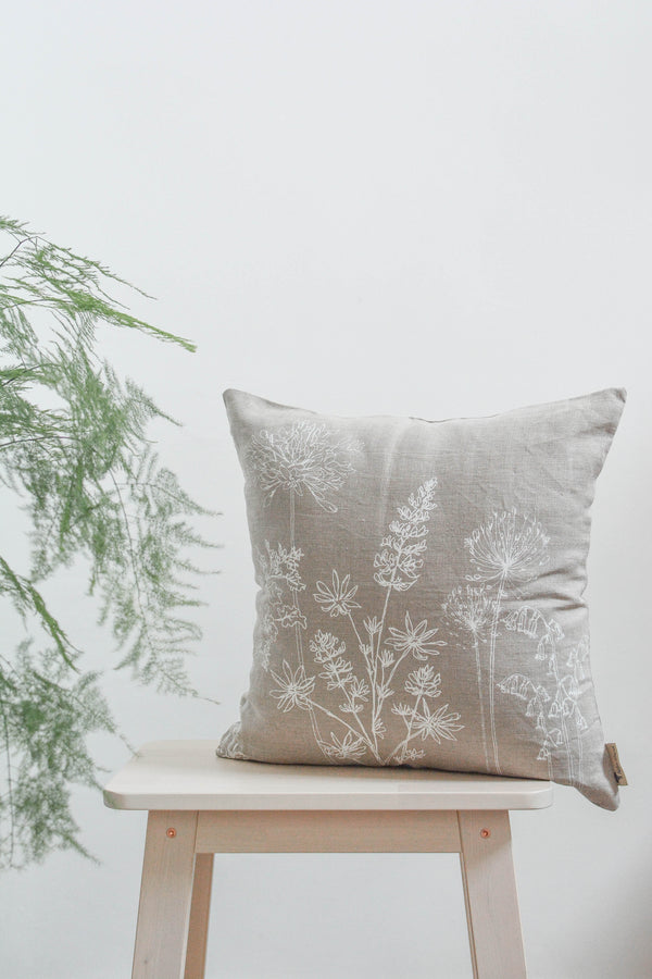 Garden Linen Cushion Cover