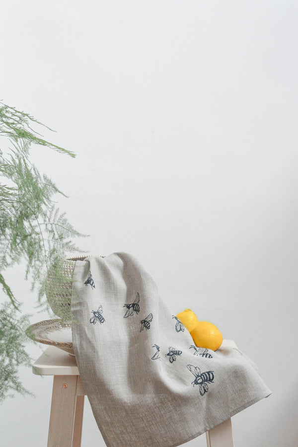 Bee Linen Tea Towel