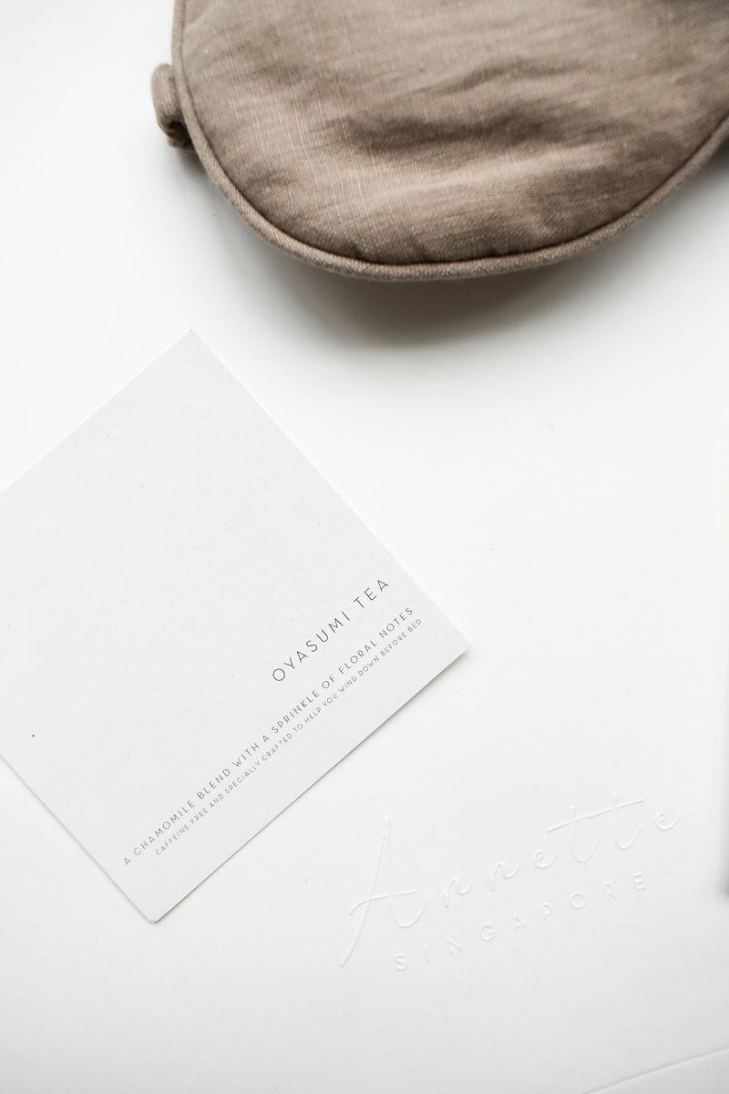Gift Set | Oyasumi Tea and Linen Sleep Mask