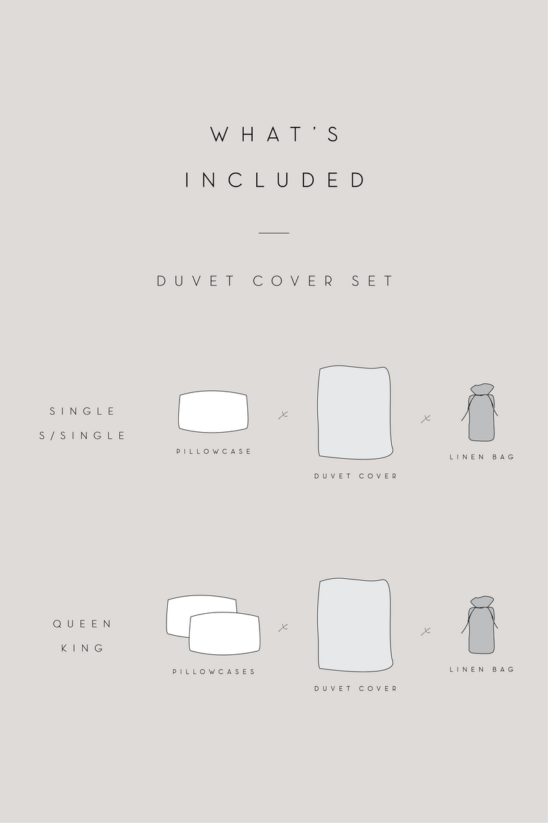 Linen Duvet Cover Set | White