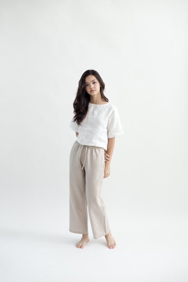 Linen Lounge Pants | Natural