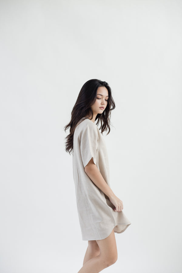 Linen Tunic Dress | Natural