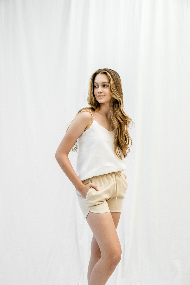 Linen Lounge Shorts | Oatmeal