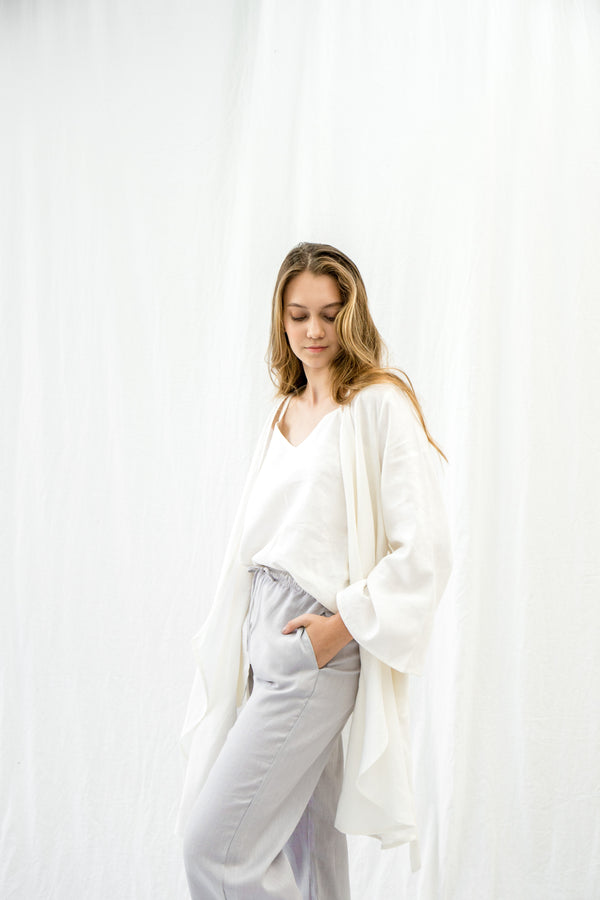 Linen Lounge Pants | Dove Grey