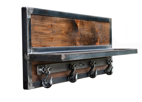 Wooster Wall Shelf & Chain Hook Coat Rack