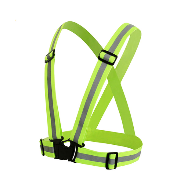 High-visibility safety harness