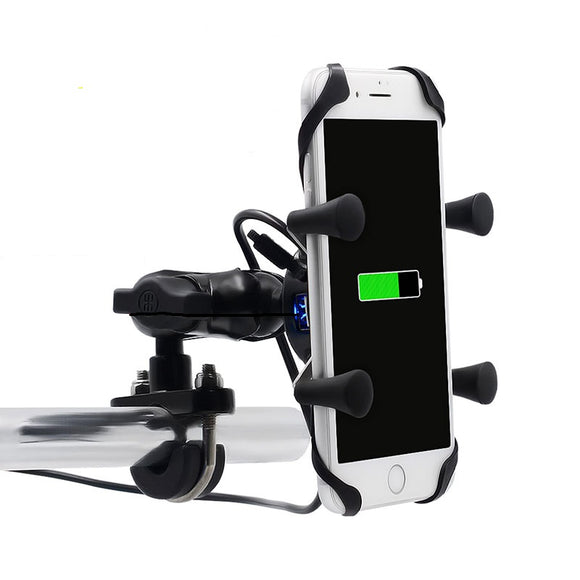 Charging USB motorcycle phone holder