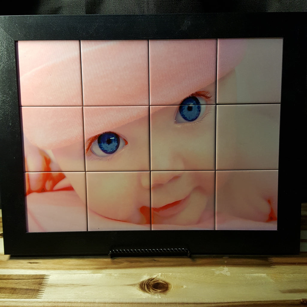 Personalize 12 Tile Wood Picture Frame 15.5 W x 19.5 H