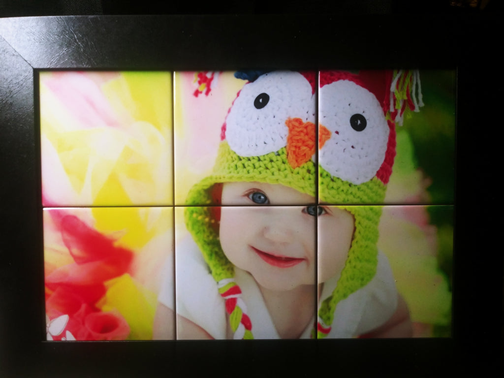"Personalize 6 Tile Picture Frame 11 3/8"" x 11 3/8"""