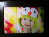 "Personalize your own | 6 Tile Picture Frame| 11 3/8"" x 11 3/8"""