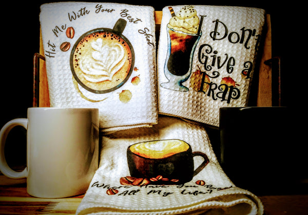 "Coffee | Trio Kitchen Towels | 16""x 24"""