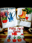 "Gardening | Trio Set of Kitchen Towels | 16""x 24"""
