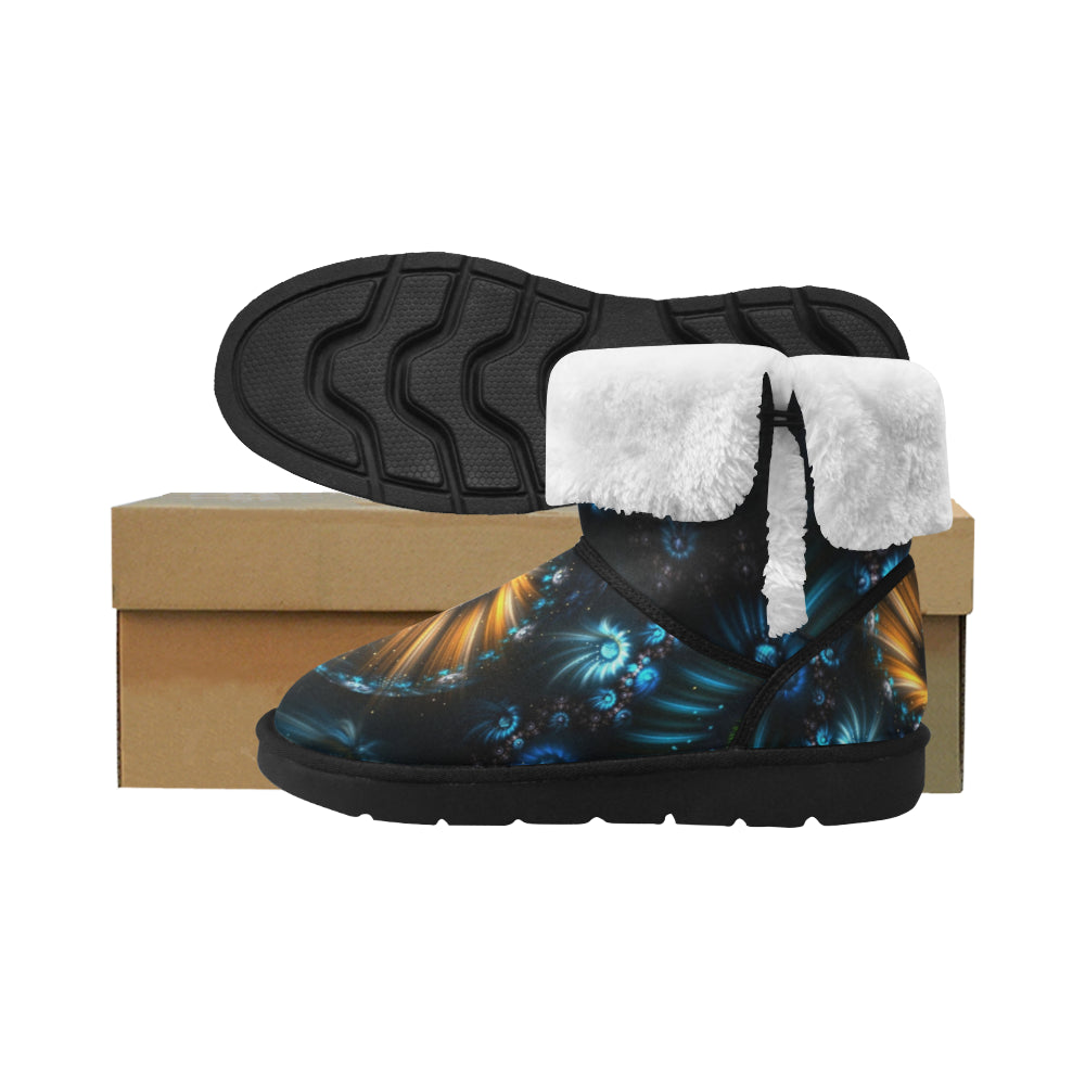 Women's Flower Abstract Mid Calf Snow Boots