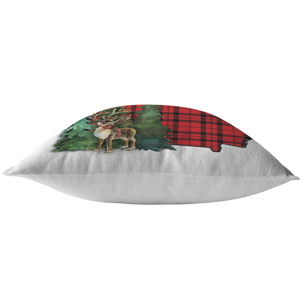 Georgia Christmas Reindeer Throw Pillow