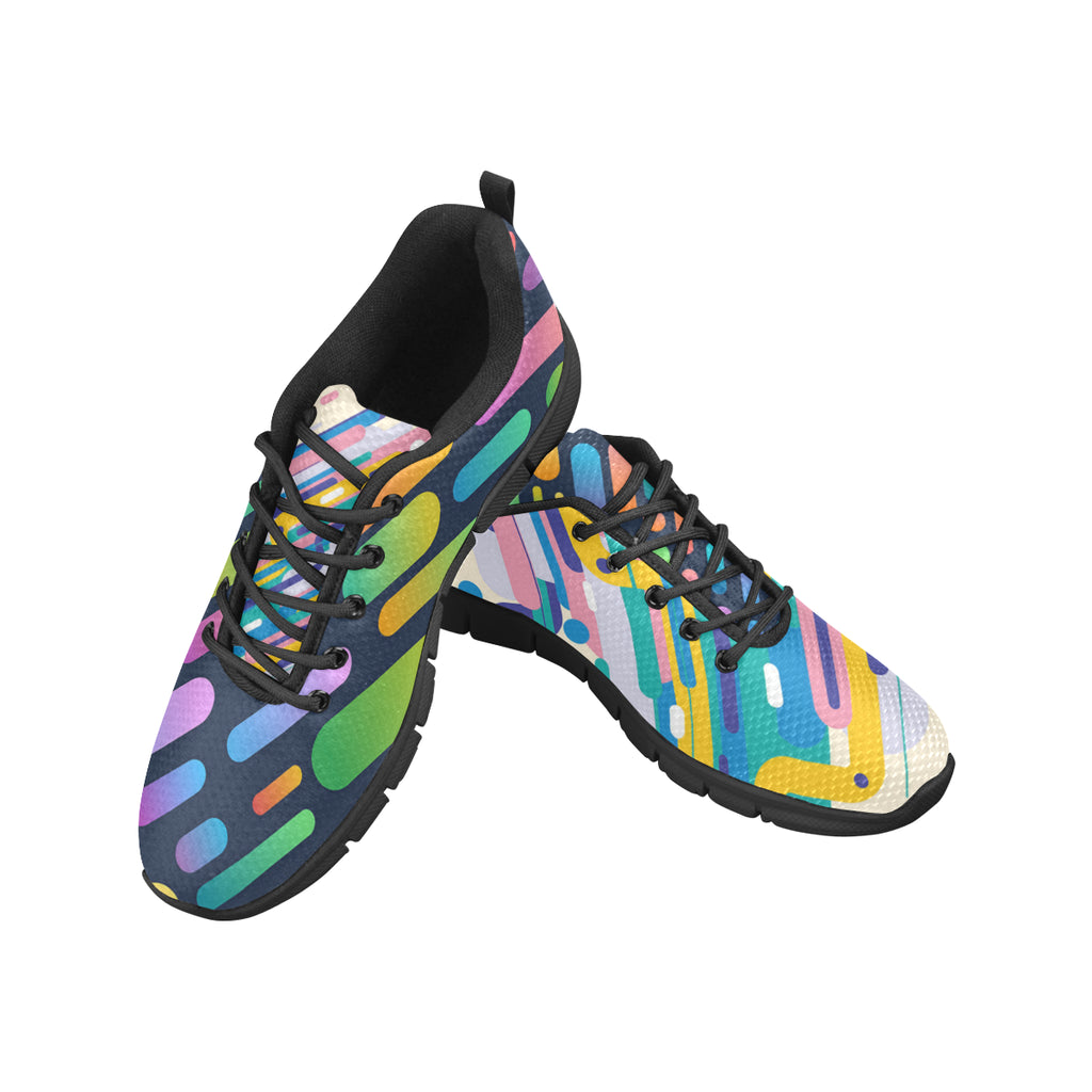Men's Abstract Dual Breathable Running Sneakers