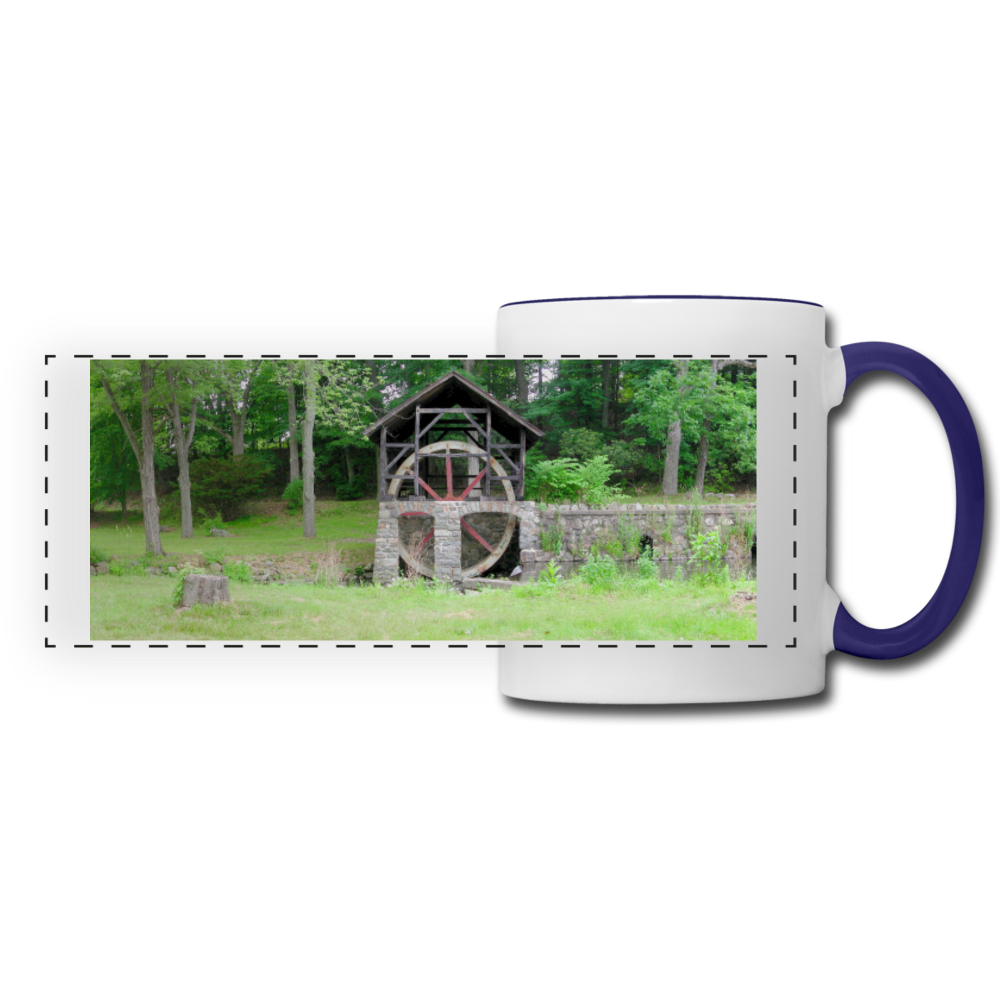 Panoramic Mug - white/cobalt blue