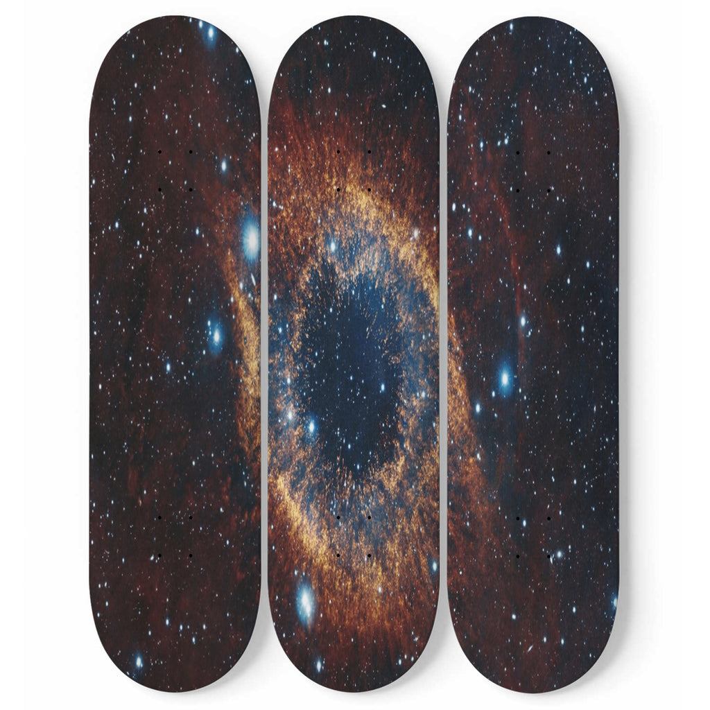 Outer Space- 3 Piece Skateboard Decorative Wall Art