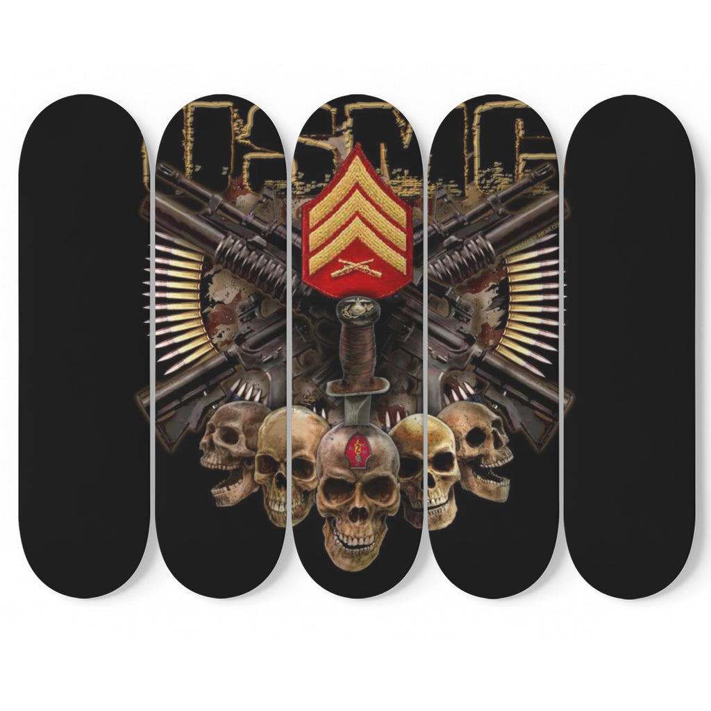 United States Marines- Guns Blazing 5 Piece Skateboard Wall Art