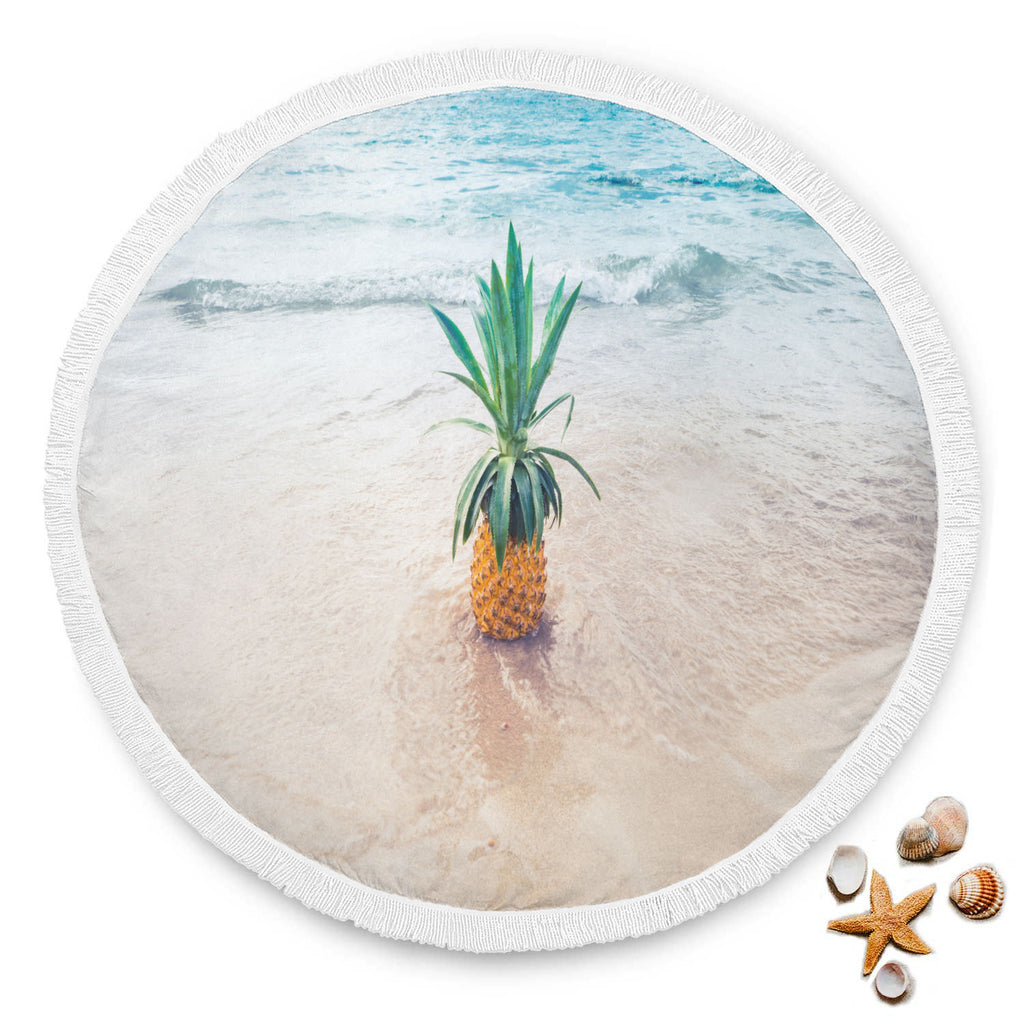 Pineapple Sand Large Beach Blanket