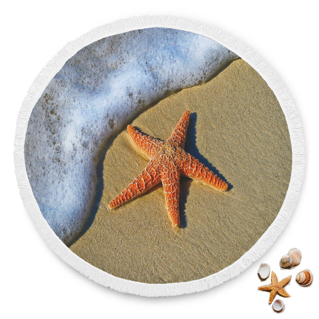 Starfish Sand Large Beach Blanket