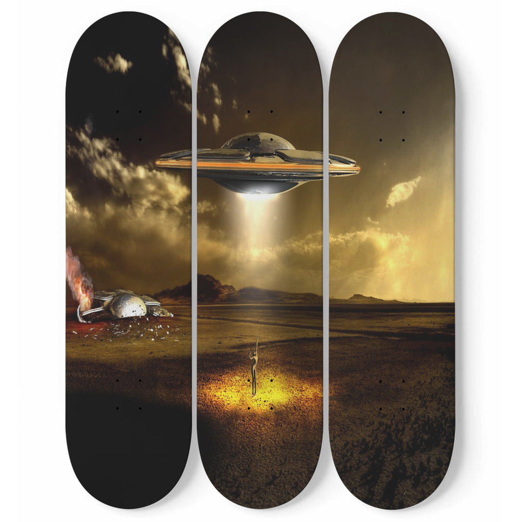 Aliens-Come Join Us- 3 piece Skateboard Wall Art