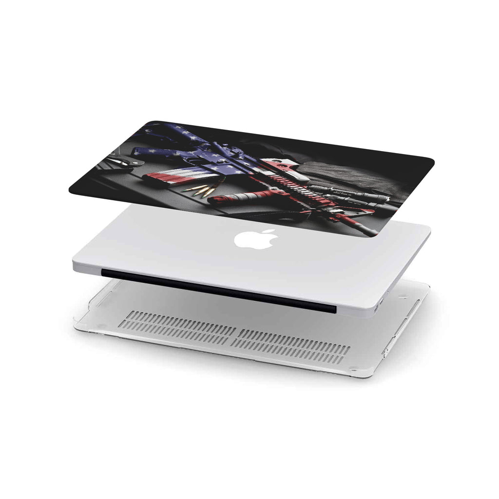 2nd Amendments- Patriotic Military MacBook Hard Shell Cover- Available in all Sizes