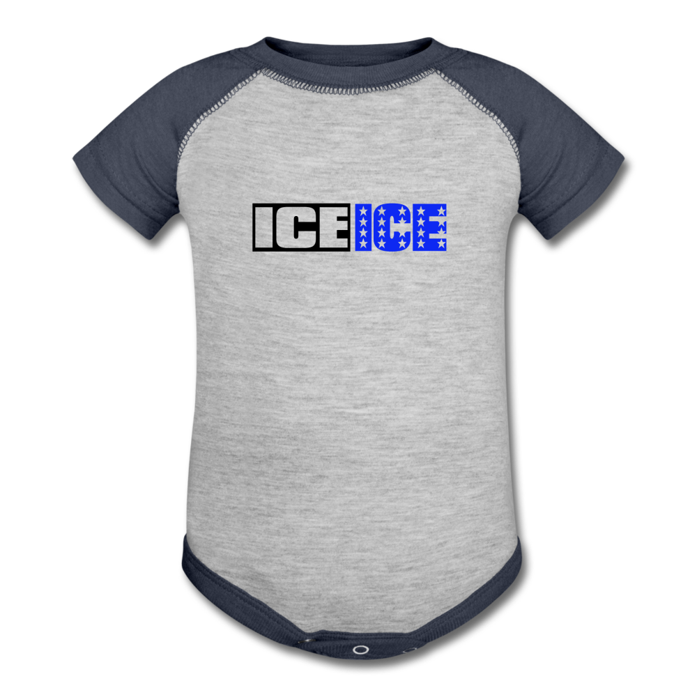 Ice Ice Baby - heather gray/navy