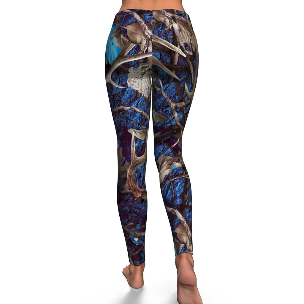 Turquoise Camo Womens Leggings