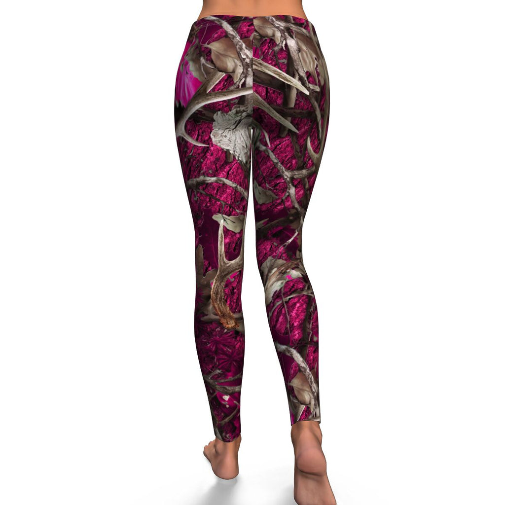 Pink Camo Womens Leggings