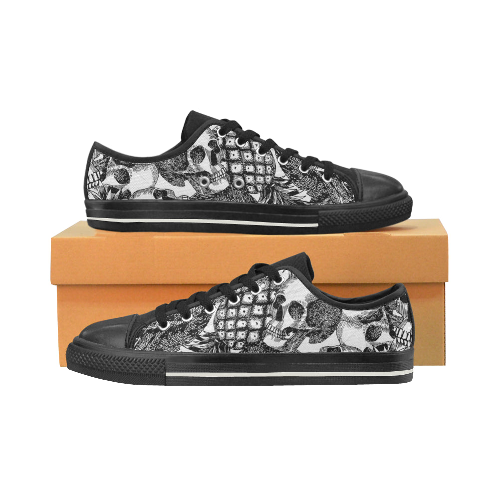 Mens Pineapple Skulls Canvas Shoes