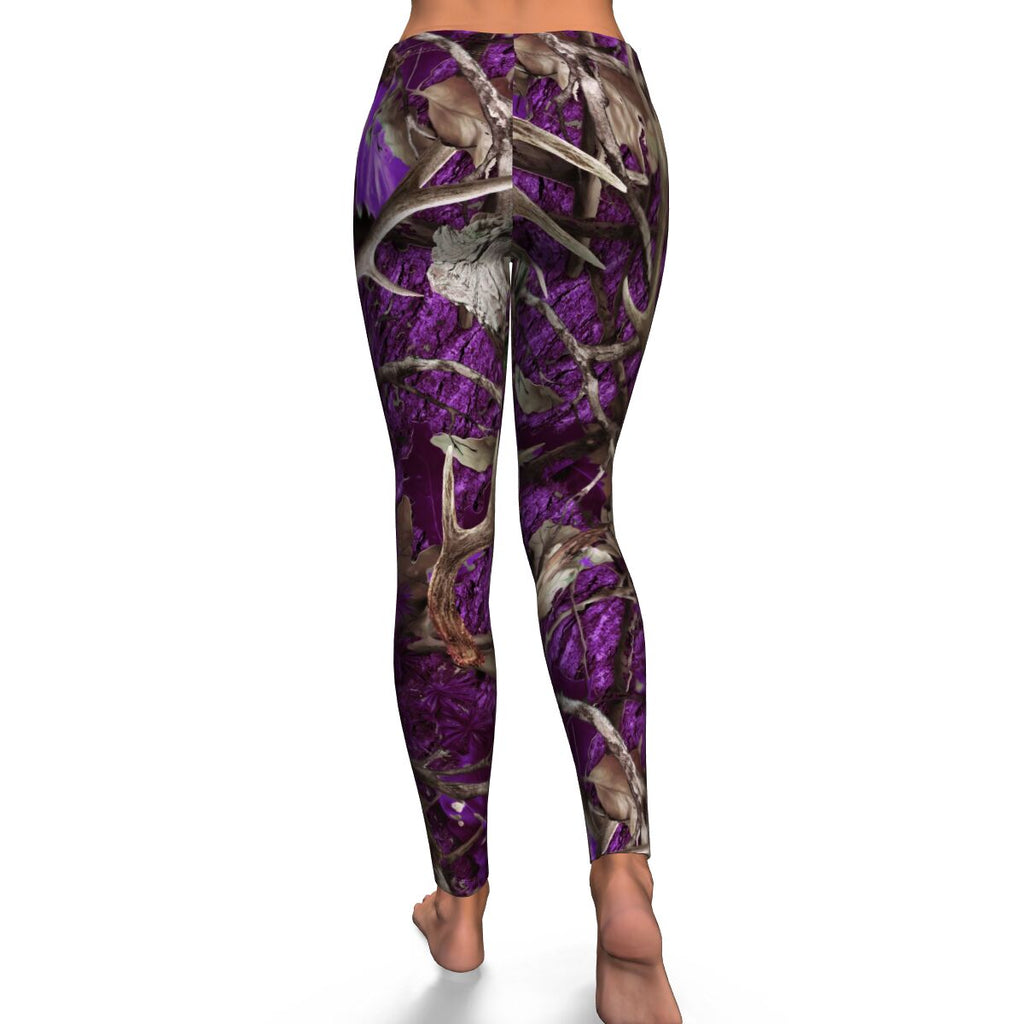 Purple Camo Womens Leggings