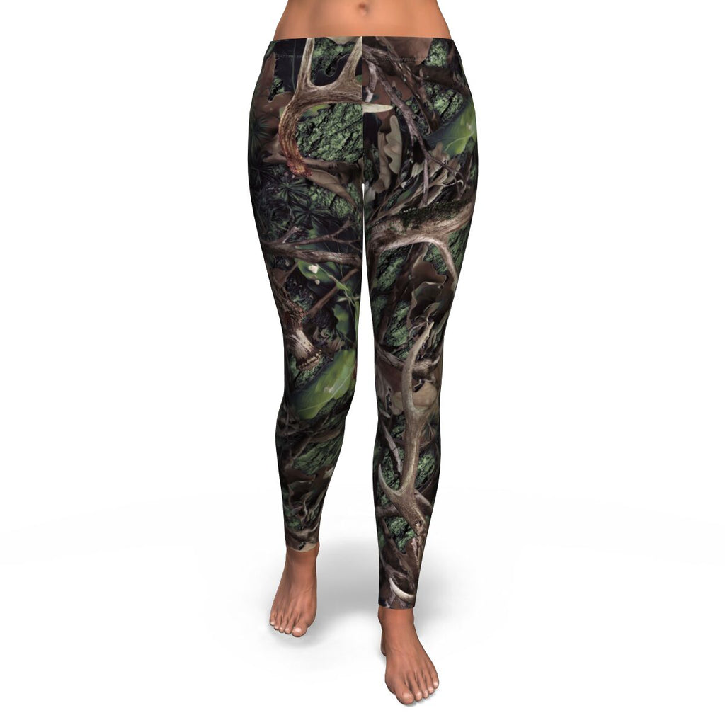 Army Green Camo Womens Leggings