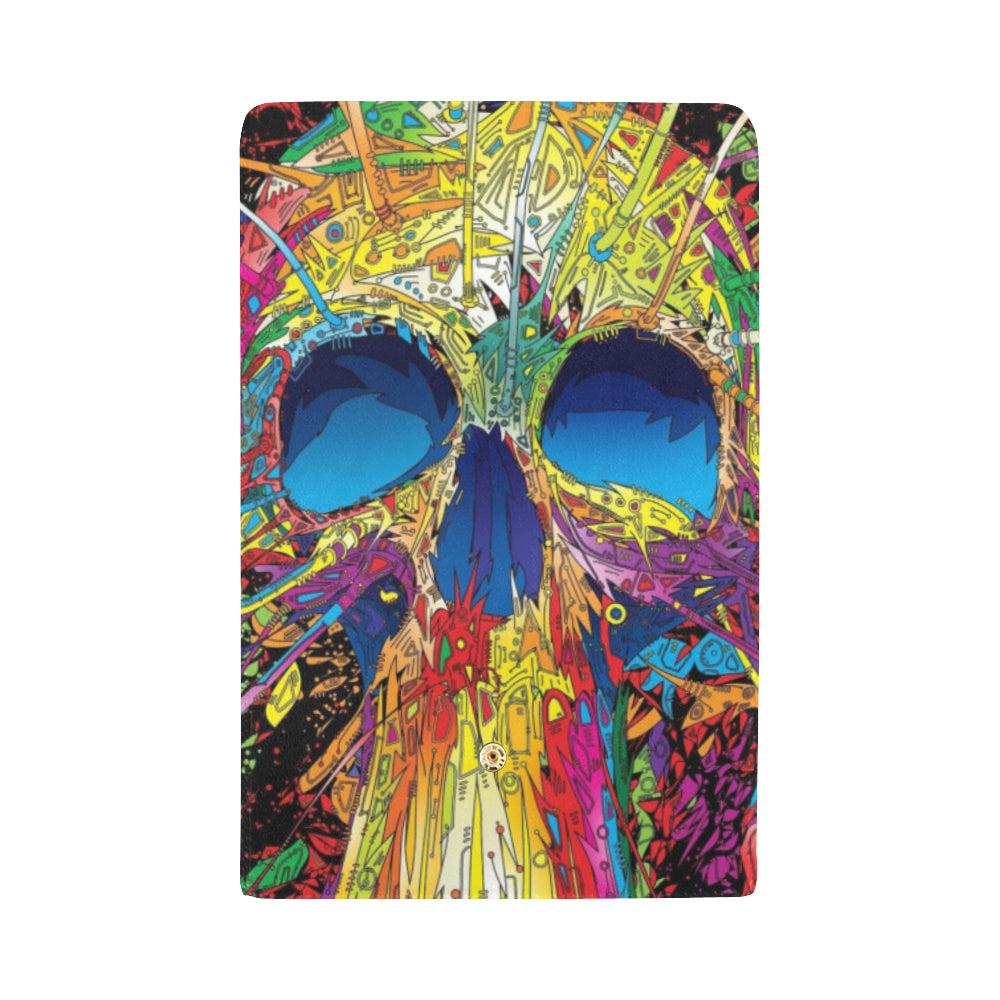 Abstract Skull Womens Tri-Fold Clutch Wallet