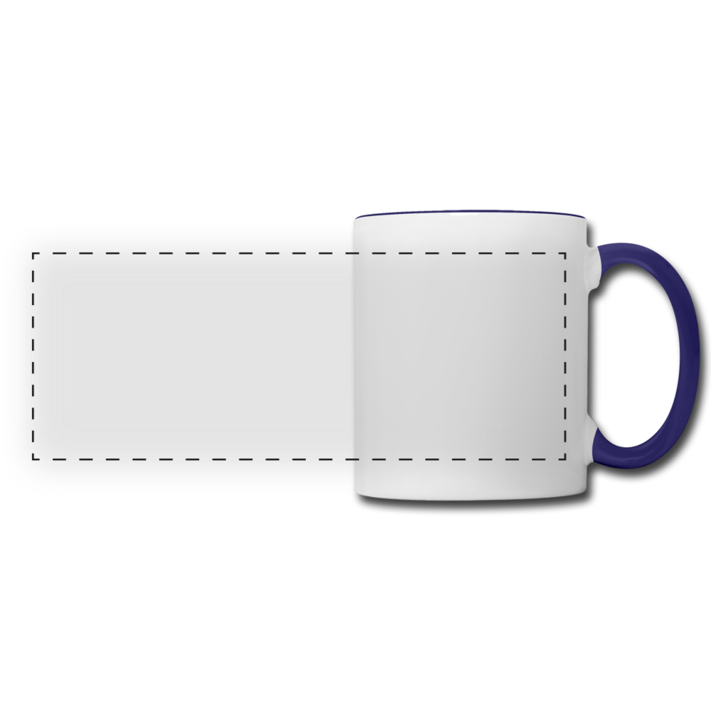 Personalize Your Contrast Panoramic Mug - white/cobalt blue