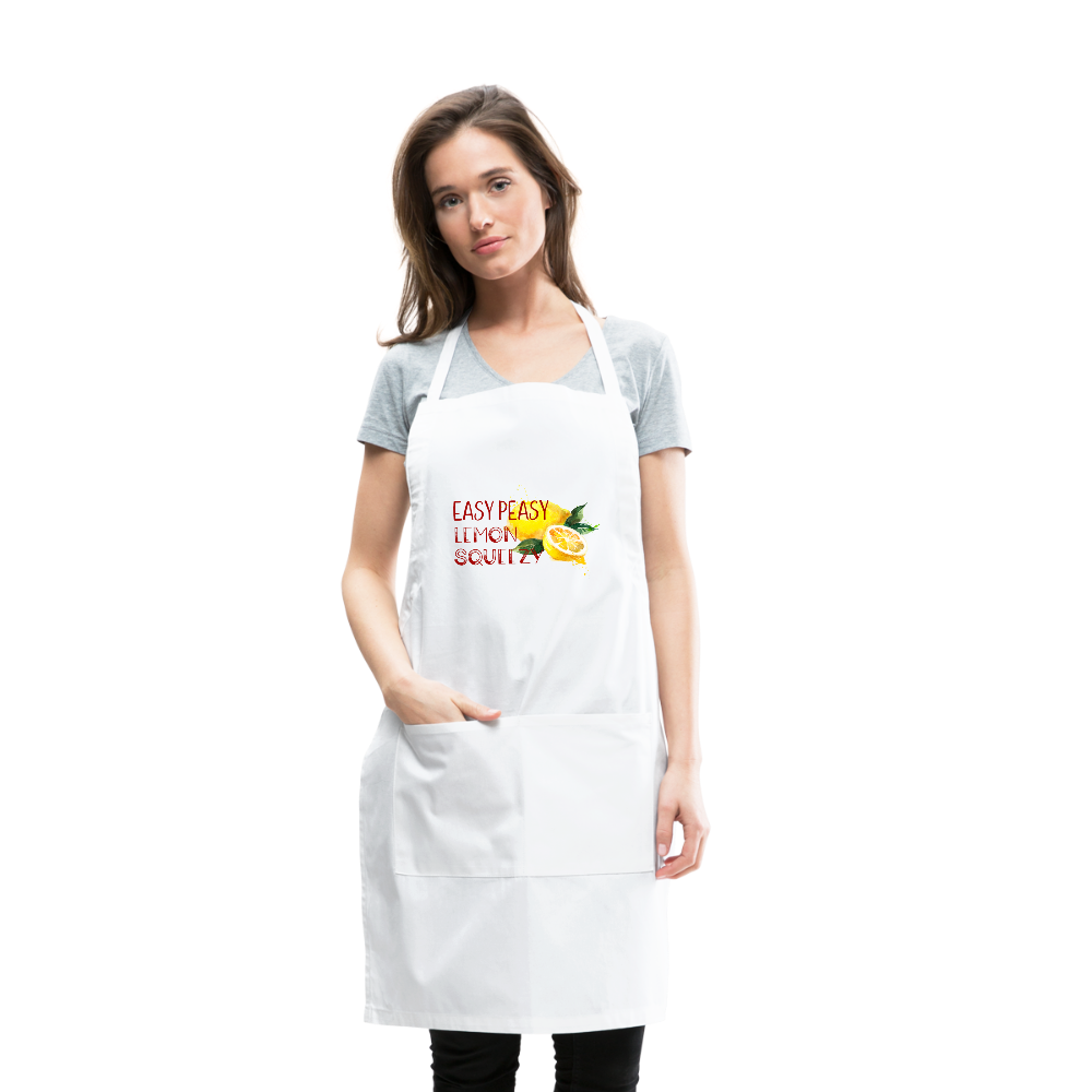Easy Peasey Womens Adjustable Apron - white