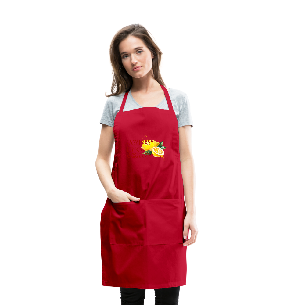 Easy Peasey Womens Adjustable Apron - red