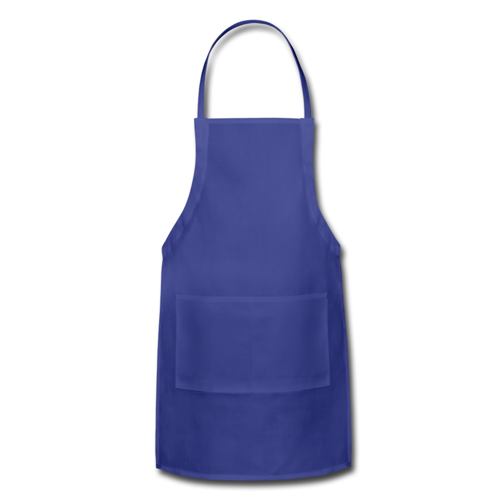 Personalize Your Own Adjustable Apron - royal blue