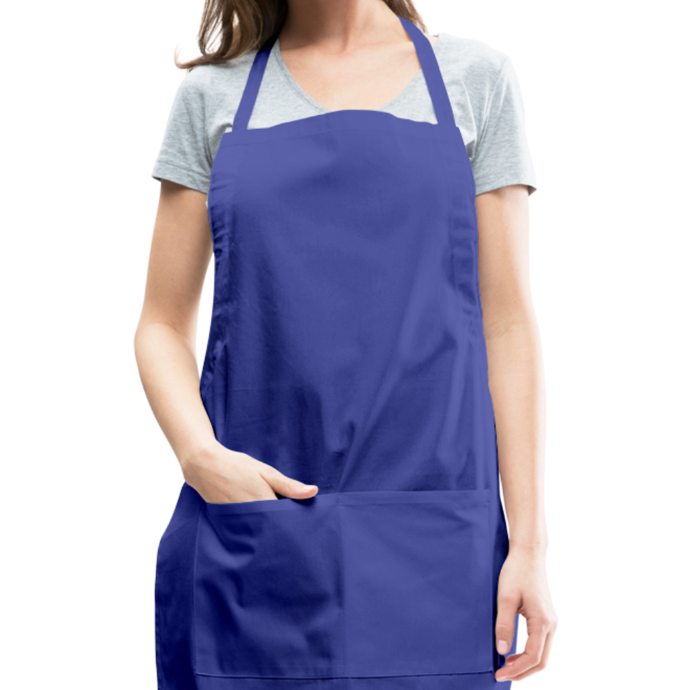 Personalize Your Own  Womens Adjustable Apron - royal blue