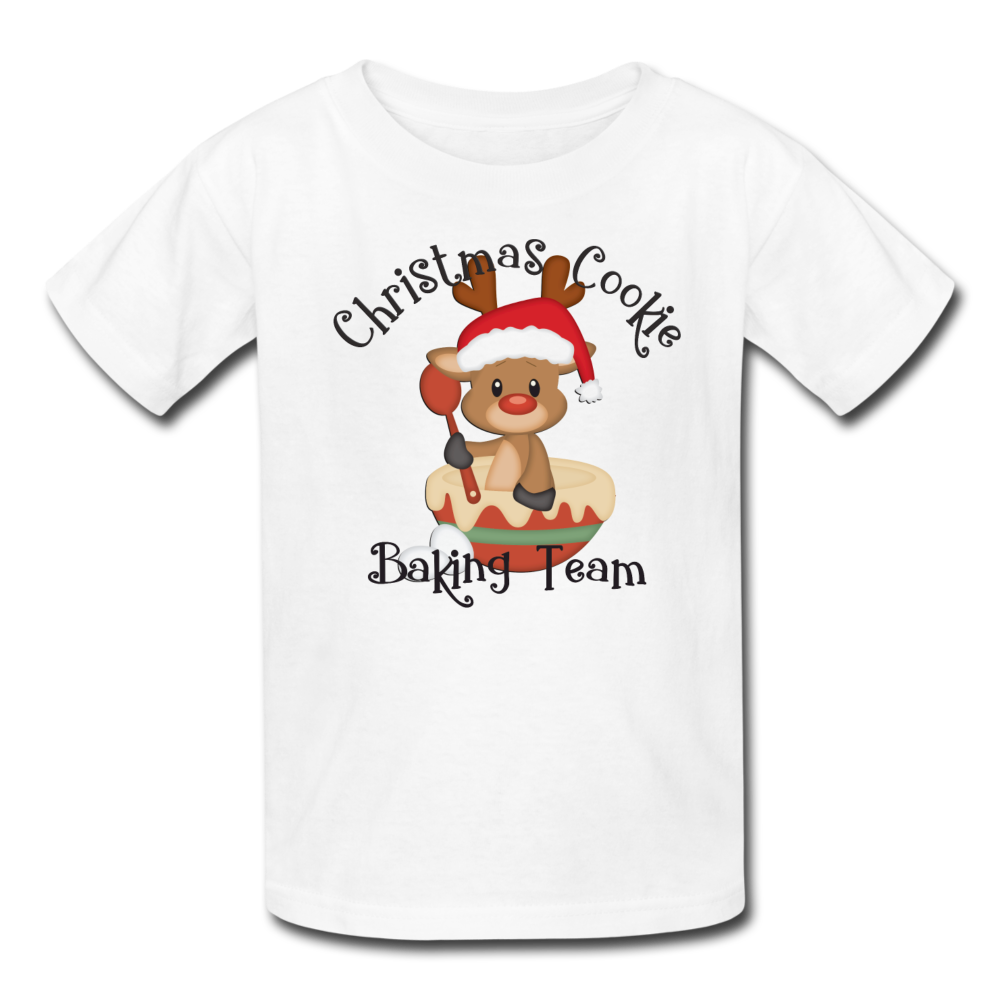 Christmas Cookie Baking Team Kids' T-Shirt - white