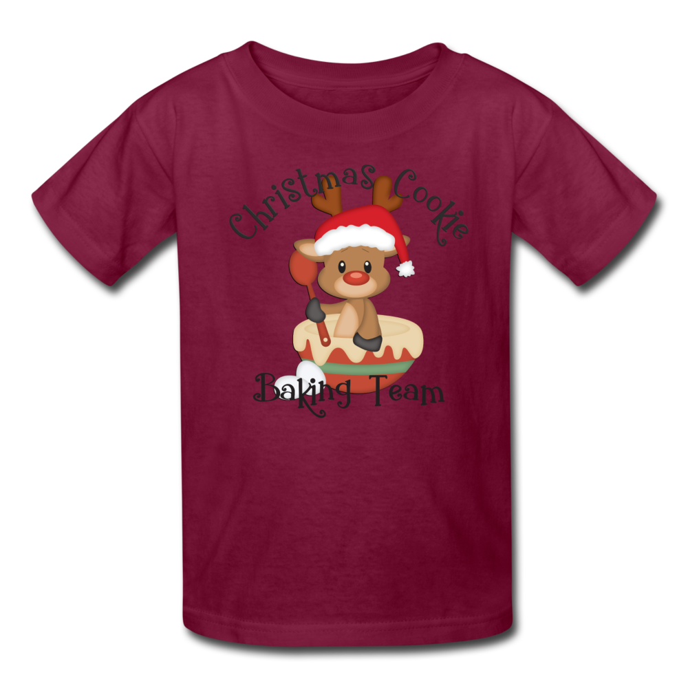Christmas Cookie Baking Team Kids' T-Shirt - burgundy