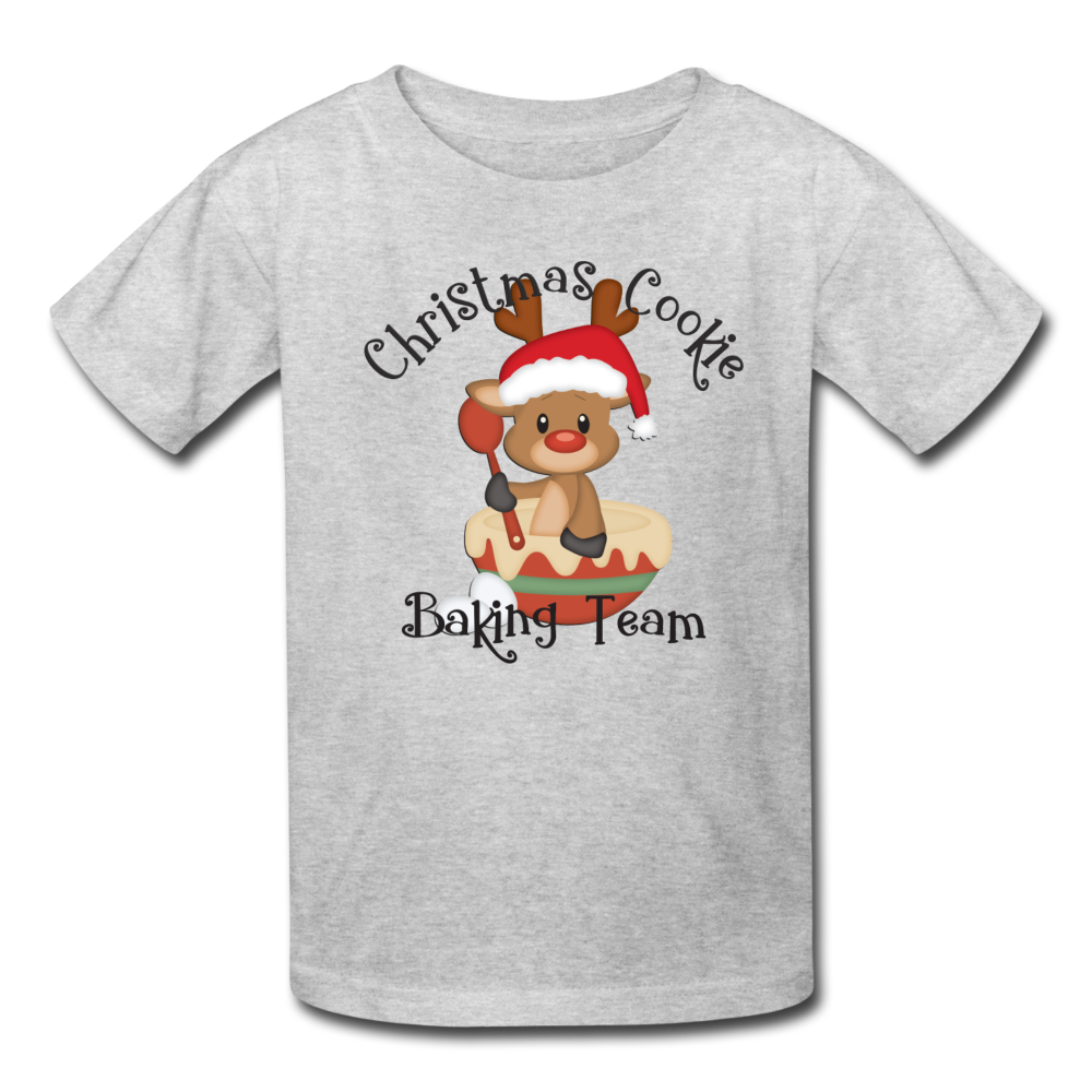 Christmas Cookie Baking Team Kids' T-Shirt - heather gray
