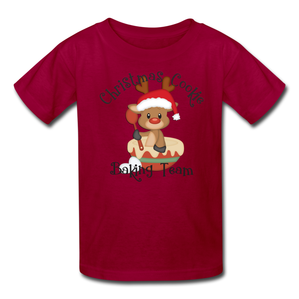 Christmas Cookie Baking Team Kids' T-Shirt - dark red