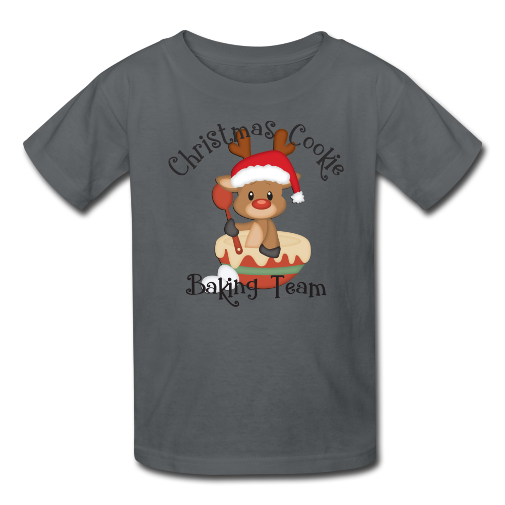 Christmas Cookie Baking Team Kids' T-Shirt - charcoal