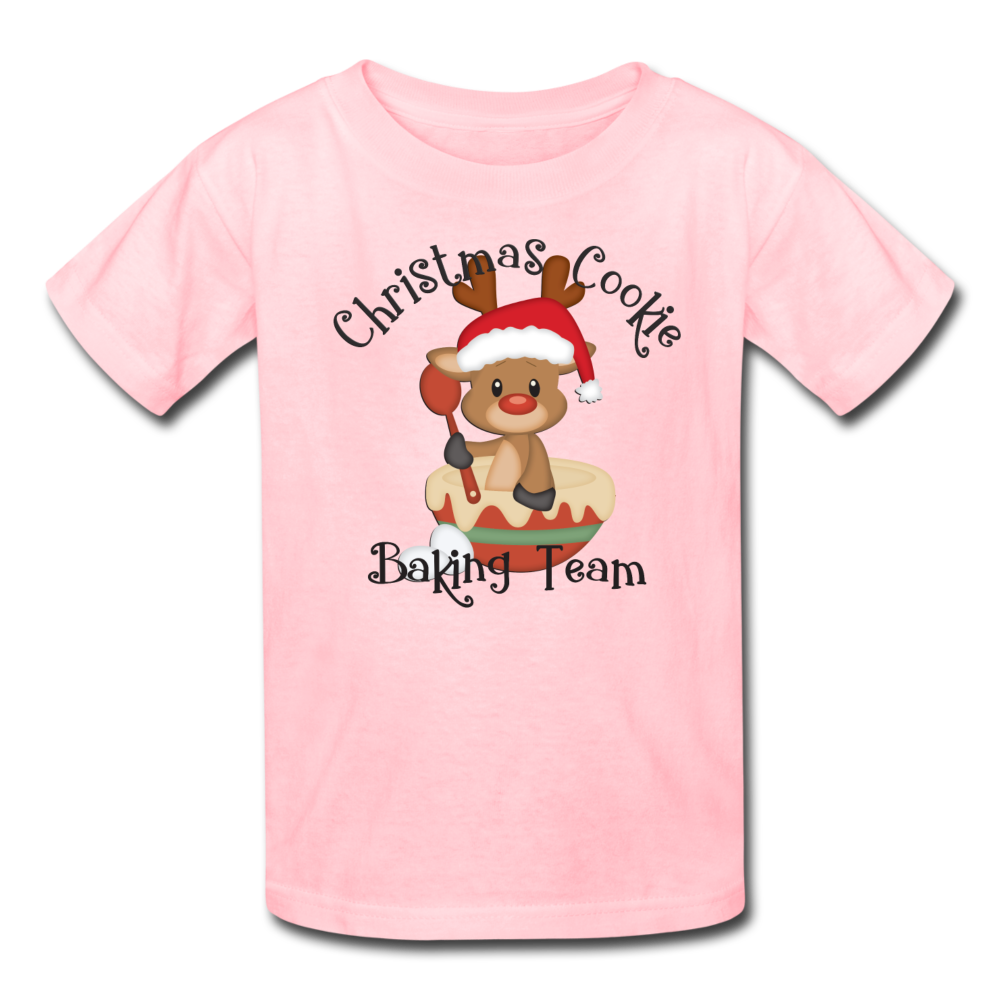 Christmas Cookie Baking Team Kids' T-Shirt - pink