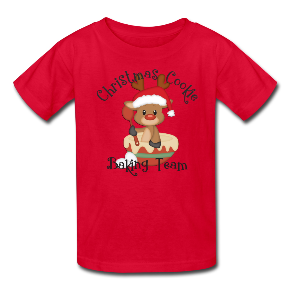 Christmas Cookie Baking Team Kids' T-Shirt - red