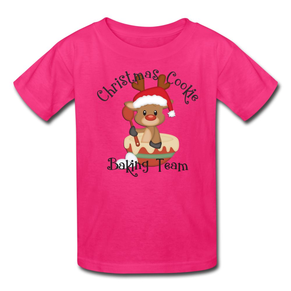 Christmas Cookie Baking Team Kids' T-Shirt - fuchsia