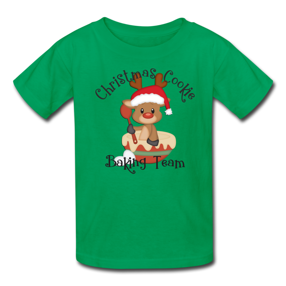 Christmas Cookie Baking Team Kids' T-Shirt - kelly green
