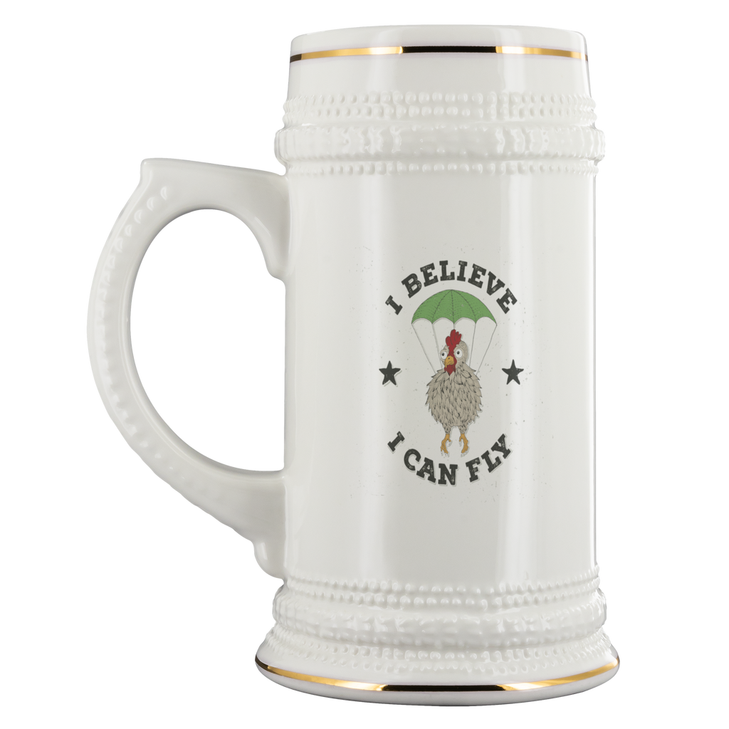 22oz Beer Stein - I Believe I Can Fly